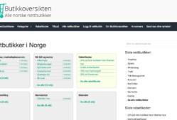 Butikkoversikten – alle norske nettbutikker